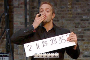 Derren's successful lottery predictions