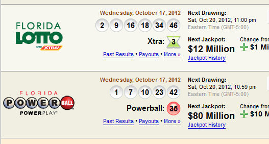 check lottery numbers