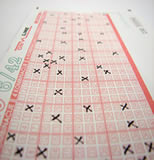 lottery pattern on entry ticket